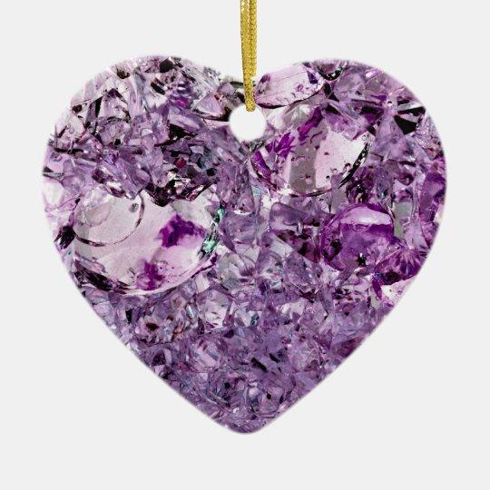 Purple Prismatic Ceramic Ornament