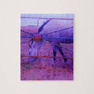 Purple Private Property Horse Jigsaw Puzzle