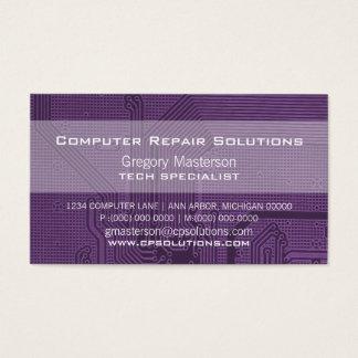 Purple Professional Circuit Business Card