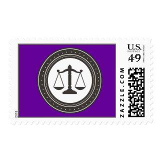 Purple Professional Legal Emblem Stamp