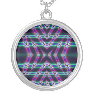 Purple Protectors Round Pendant Necklace
