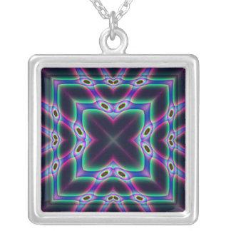 Purple Protectors Square Pendant Necklace