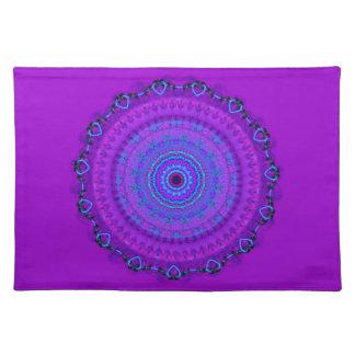 Purple Psyche Mandala kaleidoscope placemat