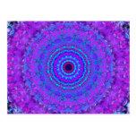 Purple Psyche Mandala kaleidoscope postcard