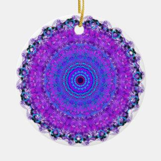 Purple Psyche Mandala Namaste ornament