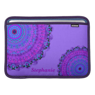 Purple Psyche Mandala name Macbook Air sleeve