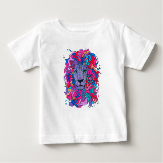 Purple Psychedelic Lion Baby T-Shirt