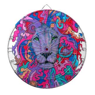 Purple Psychedelic Lion Dart Board