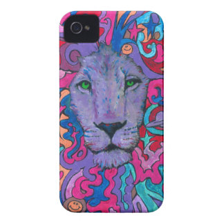 Purple Psychedelic Lion iPhone 4 Case-Mate Case