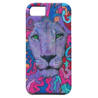 Purple Psychedelic Lion iPhone SE/5/5s Case