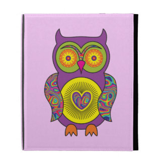 Purple Psychedelic Owl iPad Cases