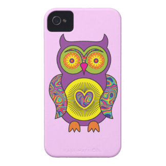 Purple Psychedelic Owl iPhone 4 Covers