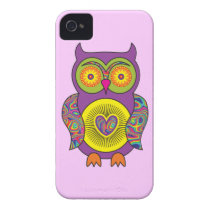 Purple Psychedelic Owl iPhone 4 Case