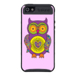 Purple Psychedelic Owl iPhone 5 Cases