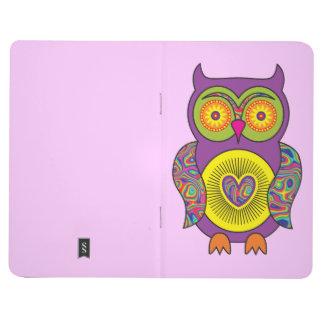 Purple Psychedelic Owl Journal