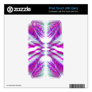 Purple psychedelic pattern decal for iPod touch 4G
