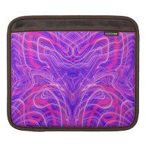 Purple psychedelic pattern iPad sleeve