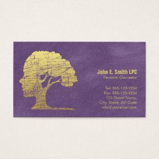 Purple Psychologist Personal Counselor Appointment Business Card