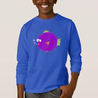 Purple Puffer Fish T-Shirt