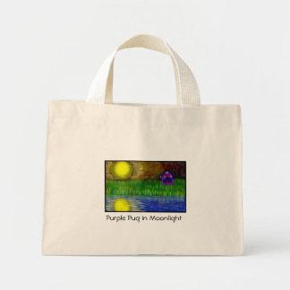 Purple Pug in Moonlight Bag