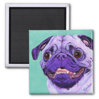 Purple Pug Magnet