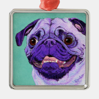 Purple Pug Ornament