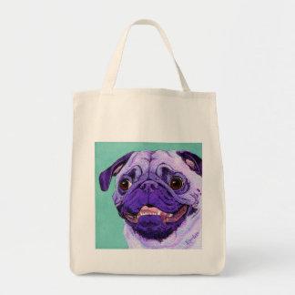 Purple Pug Tote Bag