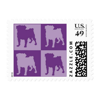 Purple Puggy Postage Stamps