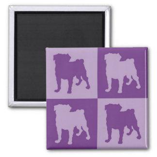 Purple Pugs Magnets