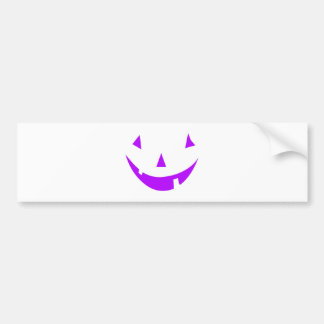 Purple Pumpkin Face Bumper Sticker