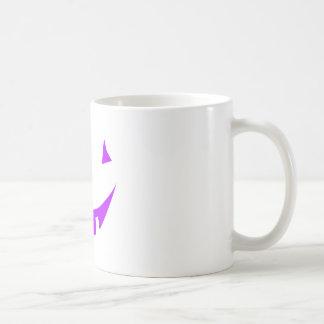 Purple Pumpkin Face Coffee Mugs