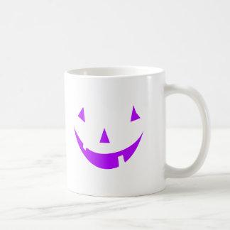 Purple Pumpkin Face Mugs