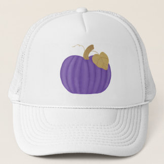 Purple Pumpkin Gold Leaf Hat