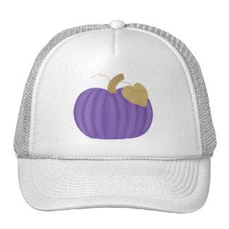 Purple Pumpkin Gold Leaf Hat