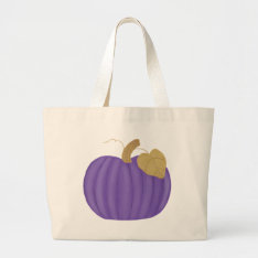 Purple Pumpkin Painting, Canvas Tote Bags at Zazzle