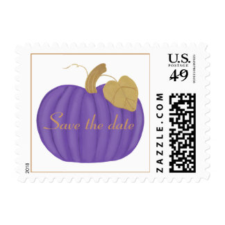 Purple Pumpkin, Save the date, Postage Stamps