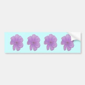 Purple Punch/ PopArt Flower Bumper Sticker