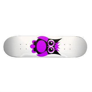 Purple Punk Owl Skateboard
