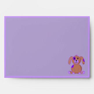 Purple Puppy Envelope