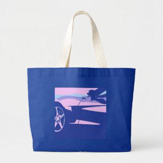 Purple Purple Corvette Tote Bag