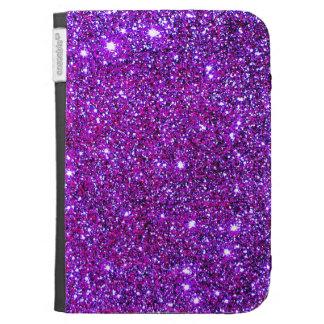 Purple Purple Sparkle Optical Illusion Art Kindle 3G Cover