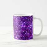 Purple Purple Sparkle Optical Illusion Art Classic White Coffee Mug