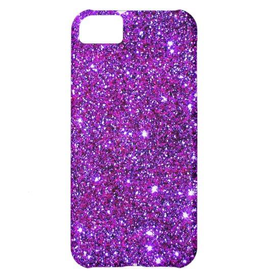 Purple Purple Sparkle Optical Illusion Art iPhone 5C Case
