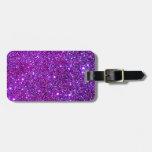 Purple Purple Sparkle Optical Illusion Art Tags For Luggage