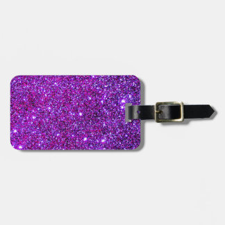 Purple Purple Sparkle Optical Illusion Art Luggage Tag