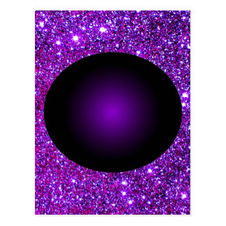 Purple Purple Sparkle Optical Illusion Art Postcard