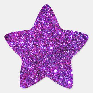 Purple Purple Sparkle Optical Illusion Art Star Sticker