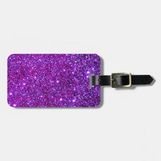 Purple Purple Sparkle Optical Illusion Art Tag For Luggage