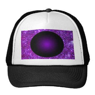 Purple Purple Sparkle Optical Illusion Art Trucker Hat