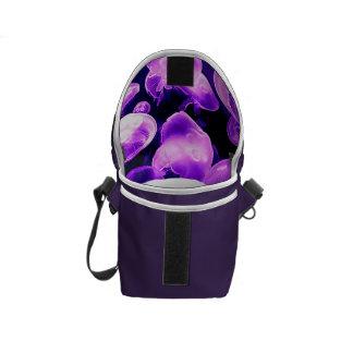 Purple Purse Bag Jellyfish Print Inside Courier Bag